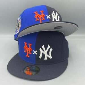 Yankees x Mets Duel Big Apple Subway Series 2 Tones 59Fifty Fitted Gray Bottom