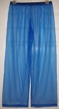"SHEER Royal Blue PAJAMA BOTTOMS * Men & Women * 30"" Inseam * XL * 30-50"" Waist"