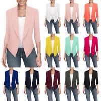 Plus Size Women Slim Office Blazer Suit Long Sleeve Jacket Coat Outwear Cardigan