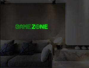 Luminous Game Zone Wall Stickers Kids Child Bedroom Living Lounge Decals UK 50i