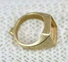 14k Ring Setting Size 9.25 - Unfinished Cast Gold Mens Ring Blank - 10.5 Grams