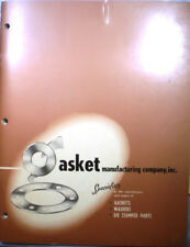 Gasket Manufacturing Co ASBESTOS Gasketing Catalog Military Specifications 1955