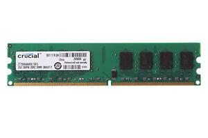 2G Crucial 2GB PC2-6400 DDR2 800MHZ 240PIN UDIMM Desktop Memory RAM Low Density