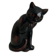 Vintage Fitz Floyd Ceramic Vernissage Black/brown Cat Hand Painted