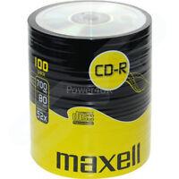 Maxell CD-R 52x 700MB Blank CDs Media Disks 100 Shrink Wrap Pack
