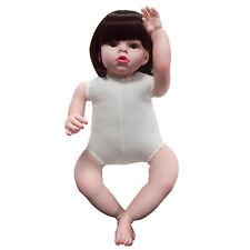 Reborn Toddler Dolls Handmade Baby Lifelike Soft Vinyl Naked Girl Doll Gift 28'