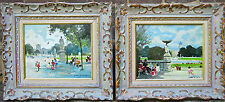 """TWO OILS """"Tuileries Garden"""" Listed French Artist: Jules Rene Herve appraised"""