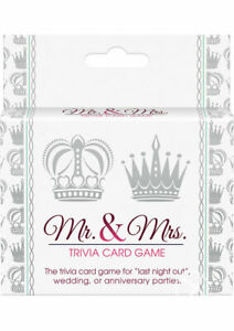 MR AND MRS TRIVIA CARD GAME wedding anniversary party marriage bride groom drink