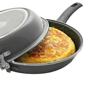 Sarten para Tortillas induccion doble sartén Quttin Serie Ross (Diametro 24 cm)