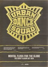 """12/5/90Pgn57 Advert 15x11"""" Urban Dance Squad Mental Floss For The Globe"""