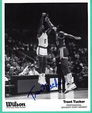 Trent Tucker NBA New York Knicks Hand Signed Autograph 8x10 Advertising Photo