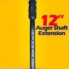 "12"" Auger Bit Extension for Skid Steer, Fits 2 9/16"" Auger Bits,Fixed Length,USA"