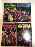 The Ultimate Marvel Super Hero Toy Collector's Guide 1995 #1 2 3 4 Complete Set