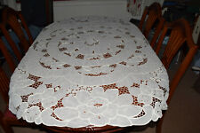 Large Round Cream Lace Tablecloth