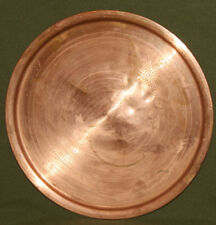 Vintage round copper serving tray