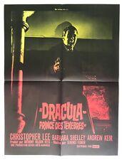 Affiche de cinéma de 1966, film DRACULA Prince des ténèbres, C.Lee, Poster 60x80