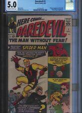 Daredevil # 1 CGC 5.0  Off White to White Pages. UnRestored