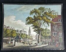 Antique Unframed Print of Amsterdam
