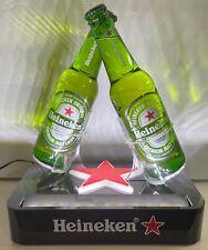 Heineken Back Bar Double Beer Bottle Glorifier Lighted Sign Brand New