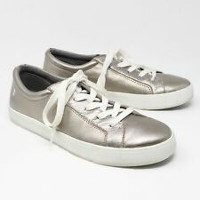 Revitalign Alameda Pewter Leather Metallic Sneakers Women Size 9