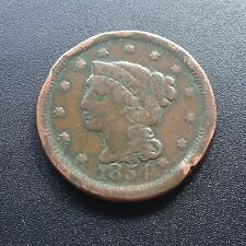 USA 1854 large cent Matron Head Liberty One cents cuivre rare 2255