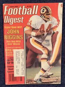 7.1983 JOHN RIGGINS Football Digest WASHINGTON REDSKINS - SUPER BOWL MVP