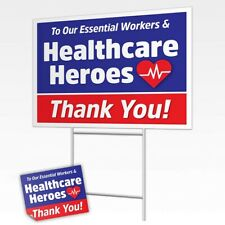 To Our Essential Works & Healthcare Heroes Decorative Sign Post Sticker Decals