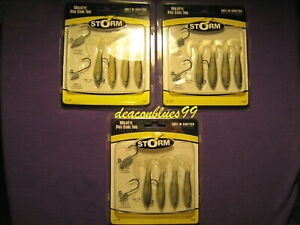 "LOT OF 3 Storm Wildeye Pro Curl Tail 2.5"" fishing lures, swimbaits- bass,walleye"