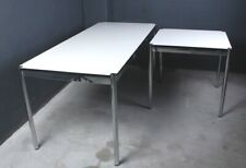 USM Haller Schreib-Tisch Konferenz perlgrau weiß   viele Maße 75 100 150 175 200