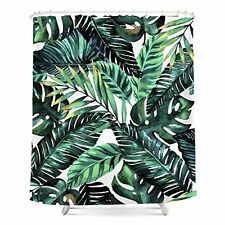 Tropical Palm Leaves, Printed Polyester Shower Curtain, Shower Curtain,  Waterpro