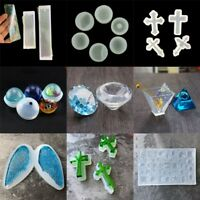 Silicone Clear Pendant Mold Making DIY~Jewelry Pendant Resin Casting Mould^