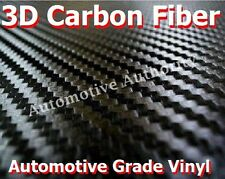 "1"" x 8"" BLACK Carbon Fiber Vinyl Sheet Decal Sticker Wrap SAMPLE Piece"
