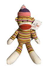 Lulubelles Louie Sock Monkey - Squeaky Dog Toy