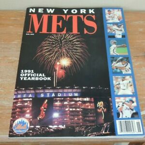 L@@K! VINTAGE 1991 NY Mets Yearbook New York MLB OFFICIAL SHEA STADIUM MINT!!!