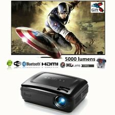 Full HD 1080p Android LED 5000 Lumens 3D TV Home Theater Projector HDMI VGA USB