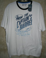 "NEW CHAPS short sleeve Crew Tee Shirt White ""Captain's Barrel""  XL mens Cotton"