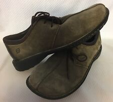 Shoes Men's BORN Lace OLIVE GREEN BROWN Suede Leather Casual EU 42 US 8.5