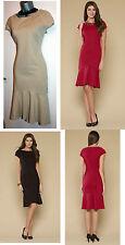 MONSOON Nude Black Red Navy Tamara Shapewear Knee Length Dress size 8 12 14  £69