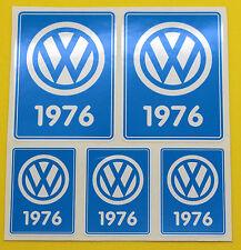 VW 1976 VOLKSWAGEN Year Date stickers INSIDE GLASS BEETLE BAY WINDOW CAMPER