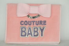 Juicy Couture Baby Photo Album Pink Girl Velvet Princess Brag Book EC