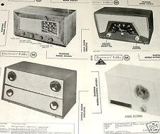 Lot 4 TRUETONE Radio Receiver Photofact s: D2027A D2237A D2836A DC2980A DC2981A