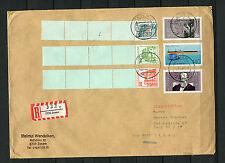 R Brief Beleg 2730 Zeven mit Top Frankatur   (R1)
