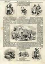 1843 Ireland Poverty Beggars Peasants Connemara Idiot Mother Leinster Cottage