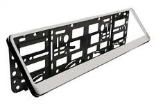 Easy Change Number Reg Plate Surround Holder CHROME Plastic Show Plates Trailer