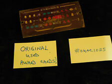 ORIGINAL USED MILLS HI TOP ANTIQUE SLOT MACHINE METAL AWARD CARD #OUAC1025