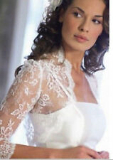 2015 White/Ivory Half Sleeve Bridal Bolero/Shrug/Wrap Lace Wedding Jacket