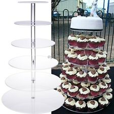 6 Tier Acrylic Round Cake Stand For Wedding Party Birthday Display