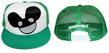 Official Deadmau5 Black & Silver Logo Green Trucker Hat Adjustable Cap Snapback
