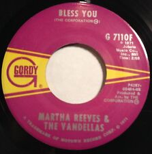 Martha Reeves & the Vandellas 45 Bless You / Hope I Don't Get My Heart Broke