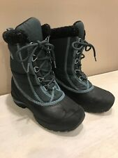 Sorel Ladies Snow Boot Size 5 Lace Up Thinsulate Waterproof Blue Black